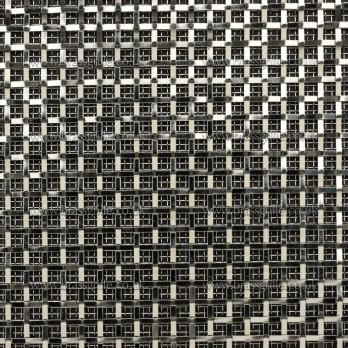 Interwoven Plain Wire Square, Polished Chrome 3mm