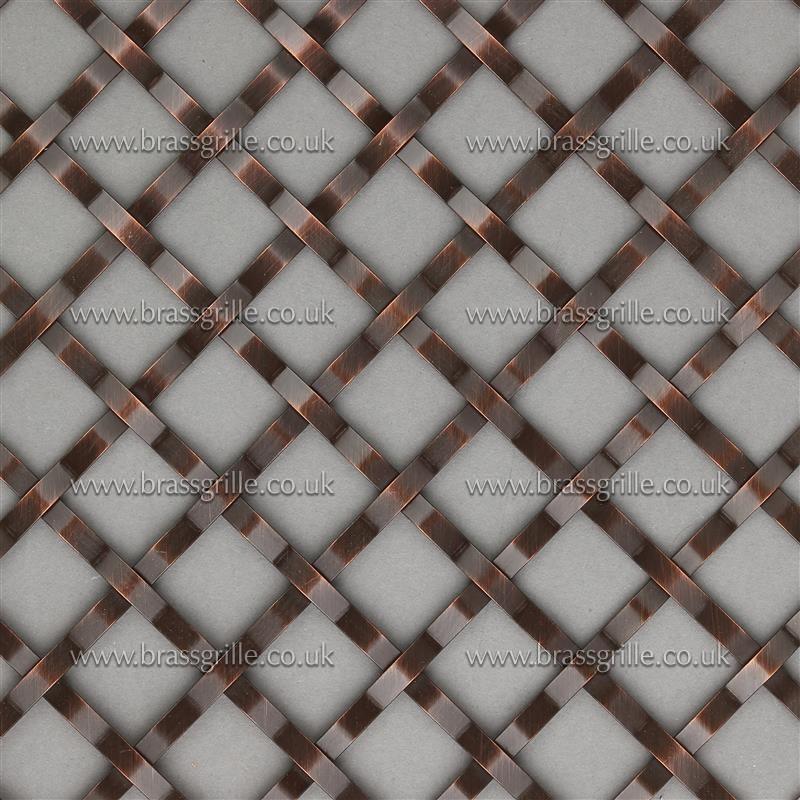 Interwoven Plain Wire Diamond, Antique Copper 2mm - Brass Grille ...