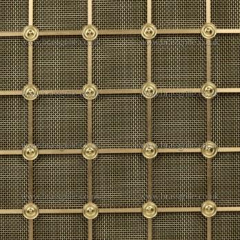 Georgian Square Medium, Brass 3.1mm