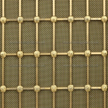 Rectangular Grille, Brass 3.1mm
